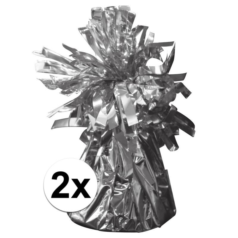 2 Ballongewichten zilver 170 gr