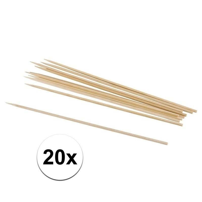 Rayher hobby materialen 20x naturel knutselhoutjes 20 cm Beige