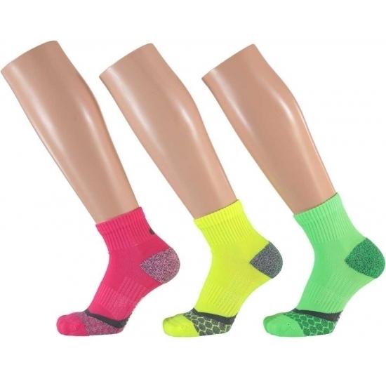 Sokken en Panty's 3 paar neon sportsokken dames 39 42