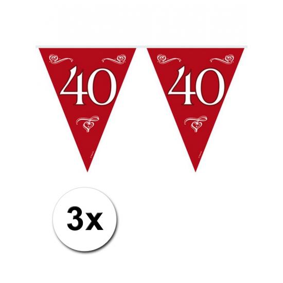 3x 40 jaar jubileum vlaggenlijn