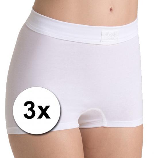 €2850000 Sparen Sloggi 3x Sloggi double comfort dames shorts wit