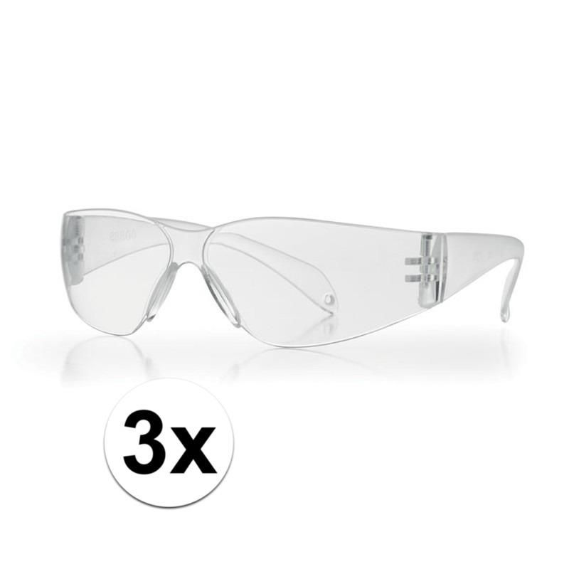 3x Vuurwerkbril voor kinderen