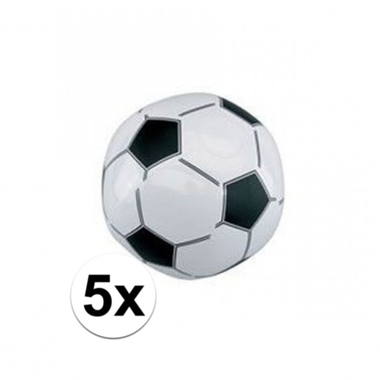 5x Opblaasbare voetballen strandbal