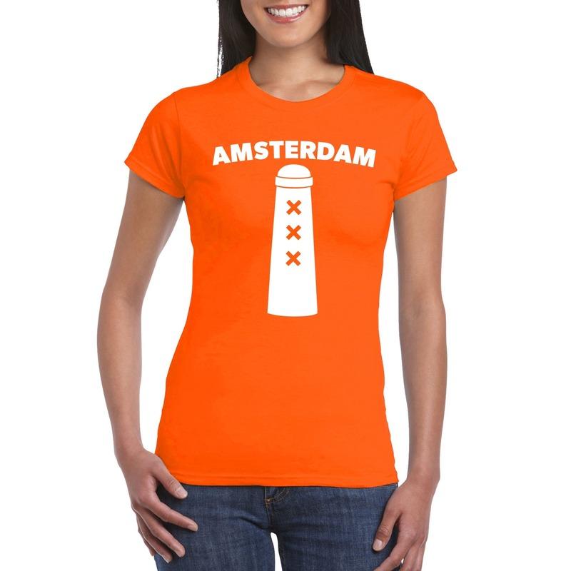 Amsterdammertje shirt oranje dames