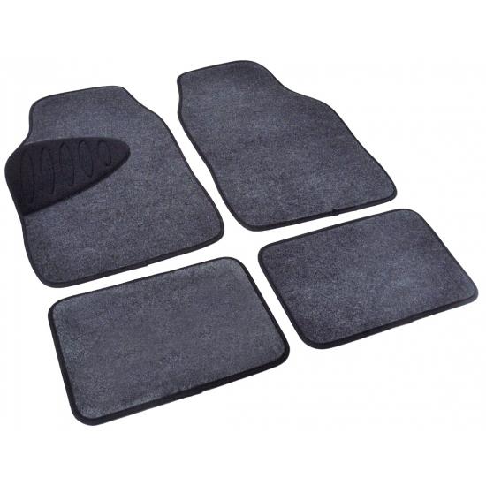 Automattenset grijs/zwart 4 delig