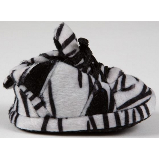 Baby slofjes zebra zwart-wit
