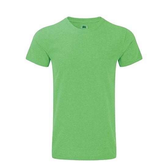 Basic heren T shirt groen Russell T shirts en poloshirts