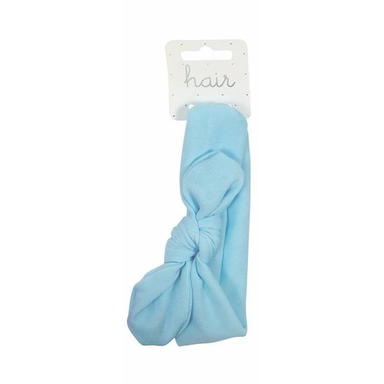 Verkleedaccessoires Blauwe baby hoofdband met knoop