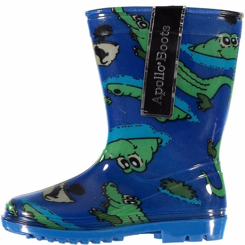 Schoenen en laarzen Blauwe jongens regenlaarzen met krokodillen