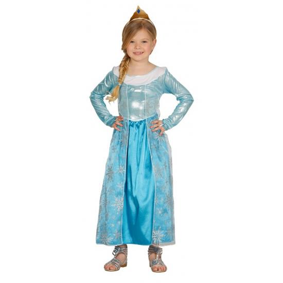 Blauwe prinsessen jurk voor meisjes