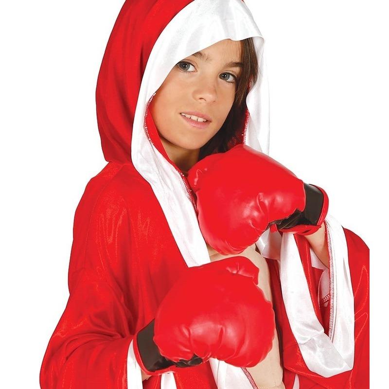 Geen Bokser verkleed hanschoenen rood voor kinderen Rood