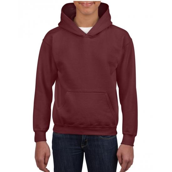 Bordeaux capuchon sweater voor jongens Gildan Truien en sweaters