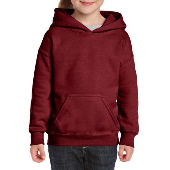 Bordeaux capuchon sweater voor meisjes Gildan Truien en sweaters