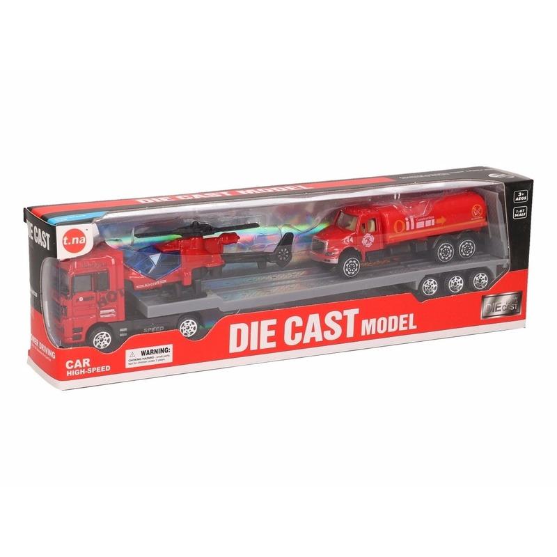 Brandweer oplegger rood 24 cm