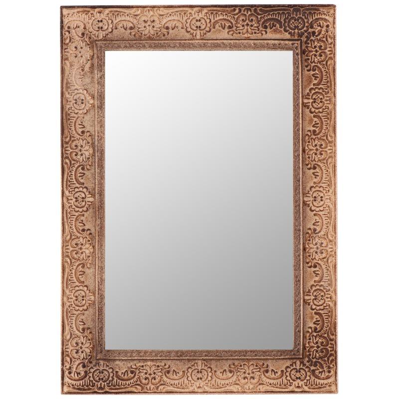 Bruine barok spiegel 38 cm