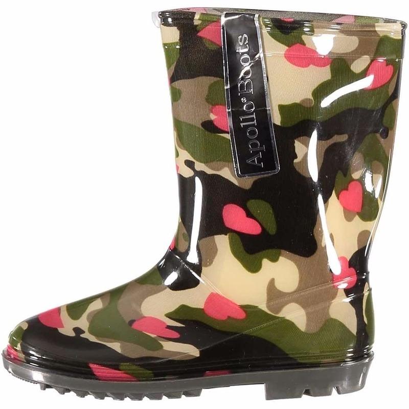 Schoenen en laarzen Apollo Camouflage meiden regenlaarzen met hartjes