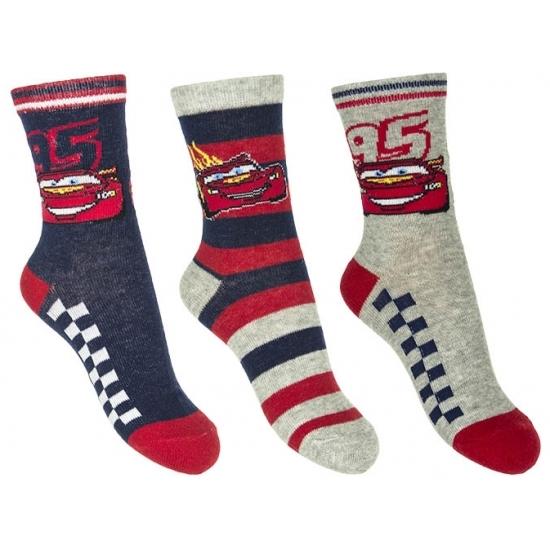 Sokken en Panty's Disney Cars jongens sokken 3 pak nr 1