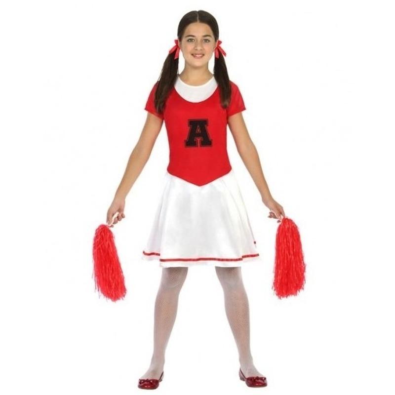 Fiesta carnavales Cheerleader jurk/jurkje verkleed kostuum voor meisjes 116 (5-6 jaar) Multi
