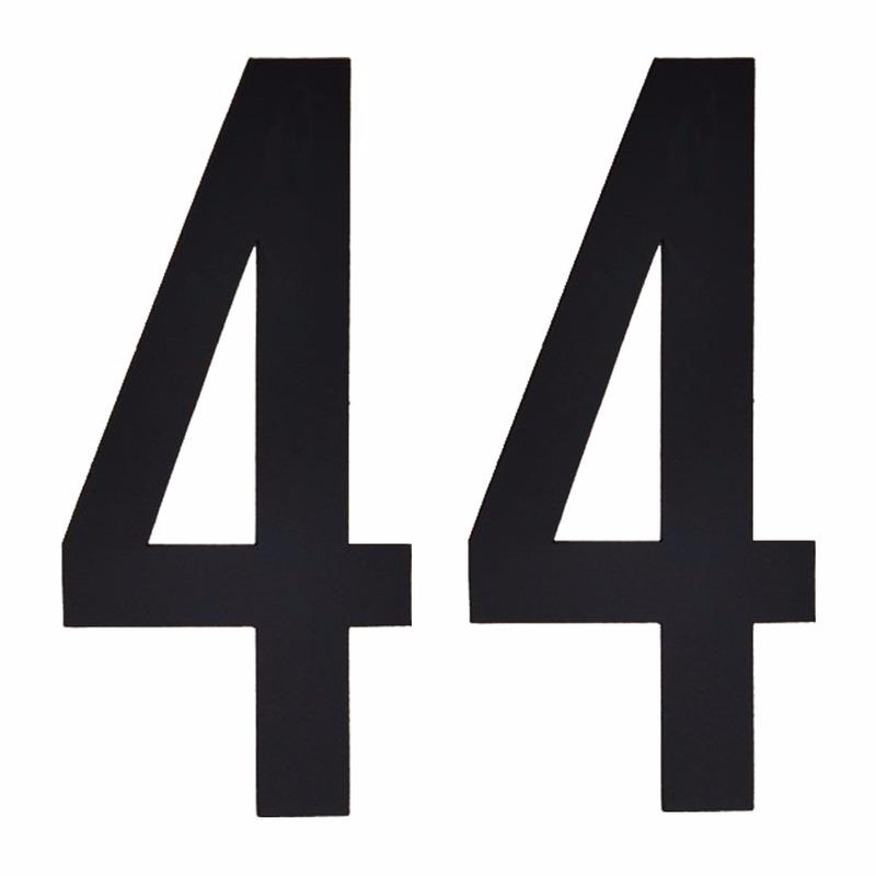 Cijfer sticker 44 zwart 10 cm