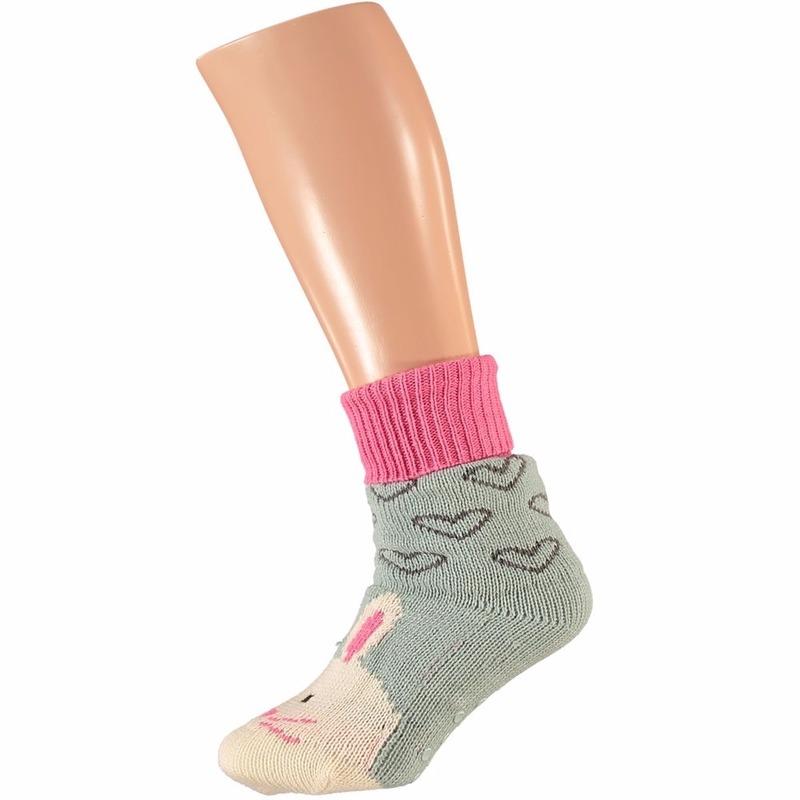 Sokken en Panty's Apollo Dames huissokken met konijn