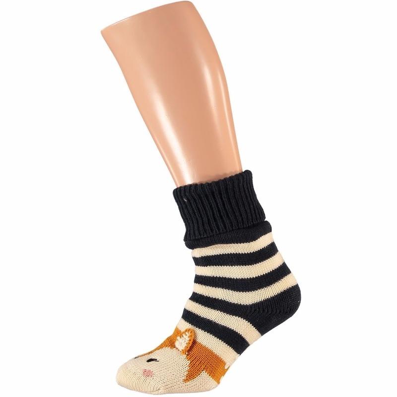Sokken en Panty's Apollo Dames huissokken met vos