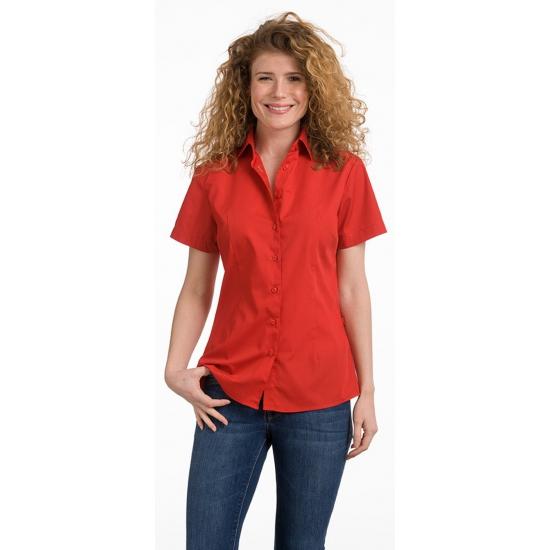 Overhemden Lemon Soda Dames overhemd rood korte mouw