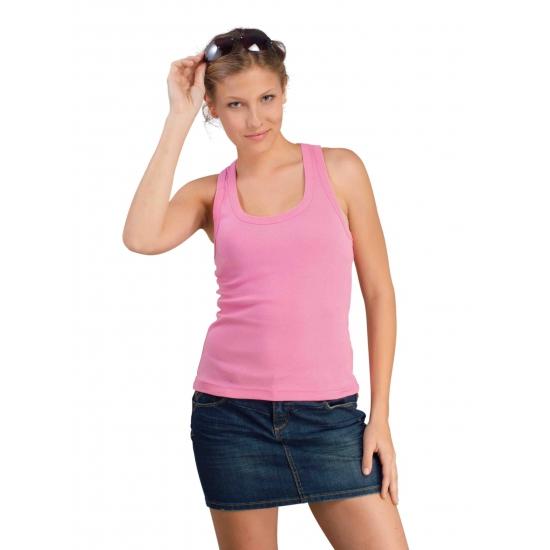 Sols Dames roze tanktop Coconut T shirts en poloshirts