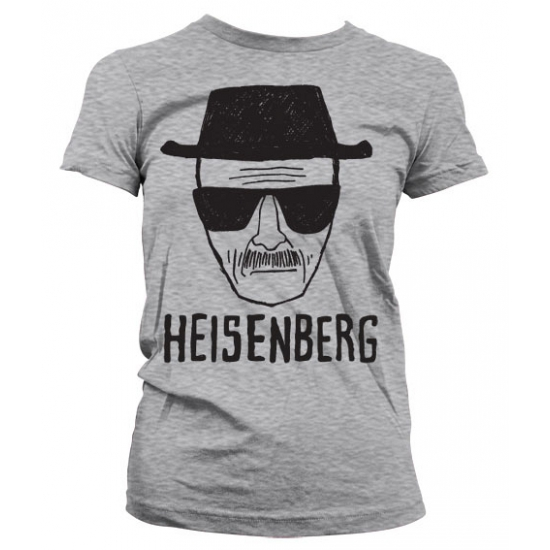 T shirts Bellatio Dames T shirt Breaking Bad Heisenberg grijs