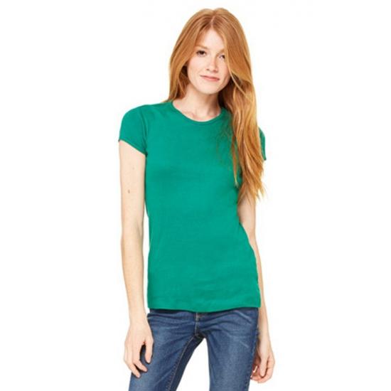 Bella Dames t shirt ronde hals grasgroen T shirts en poloshirts
