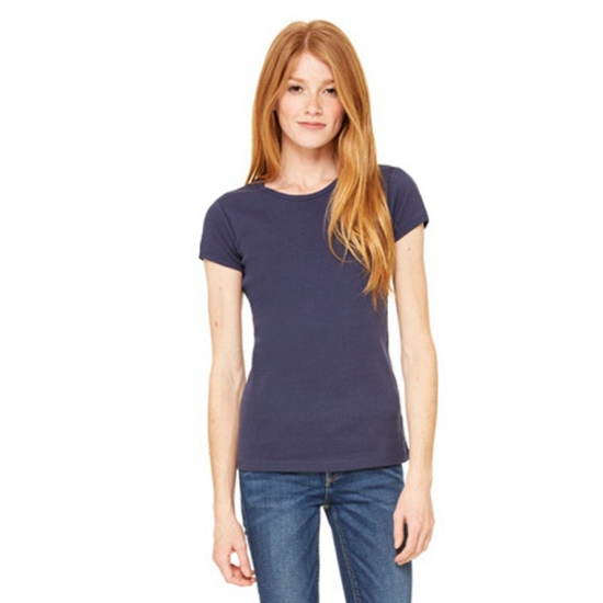 Dames t shirt ronde hals navy blauw Bella T shirts en poloshirts