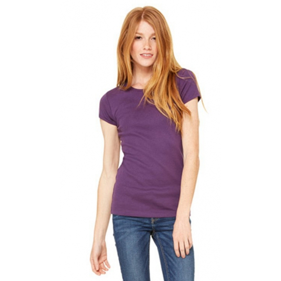 T shirts en poloshirts Bella Dames t shirt ronde hals paars