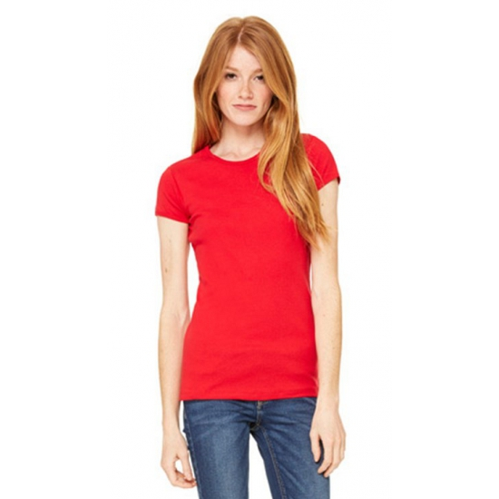Bella Dames t shirt ronde hals rood T shirts en poloshirts
