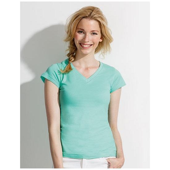 Sols Dames t shirt V hals mint groen T shirts en poloshirts