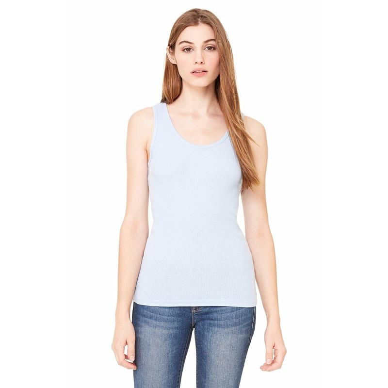 T shirts en poloshirts Bella Dames topje Bella lichtblauw
