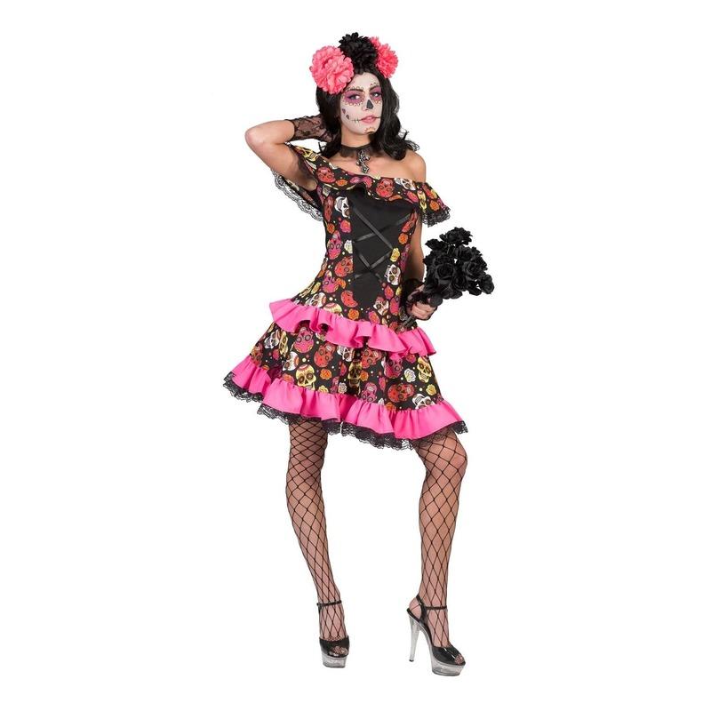 Day of the dead halloween jurk voor dames