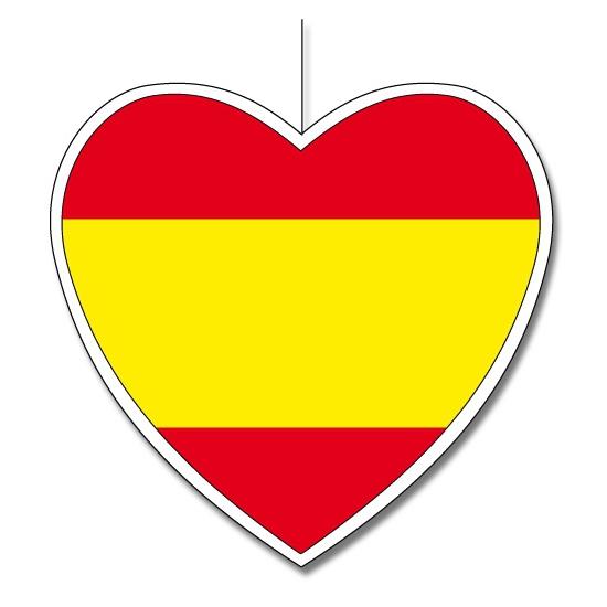 Decoratie hart Spanje 14 cm