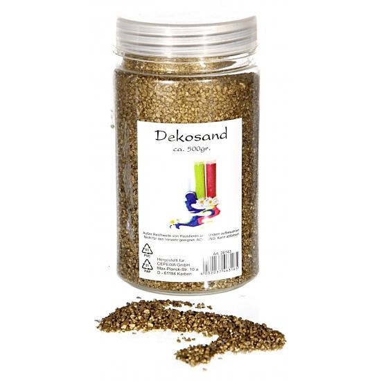 Geen Decoratie korrelzand goud 500 gram Goudkleurig