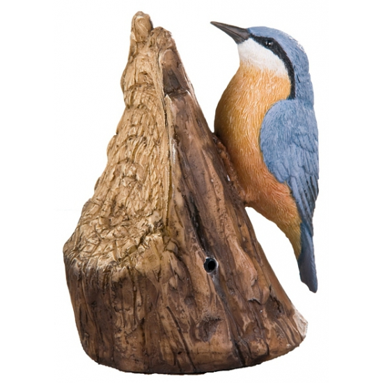 Decoratie vogel boomklever 12,5 cm