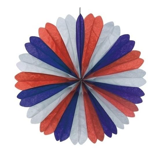 Decoratie waaier rood-wit-blauw