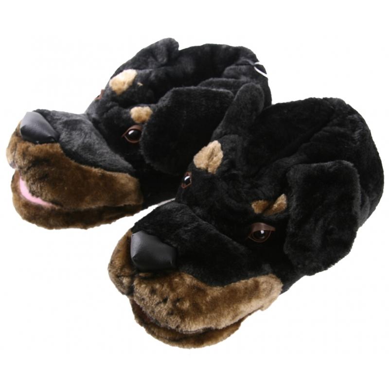 Sloffen en Pantoffels Geen Dieren sloffen zwarte hond voor heren