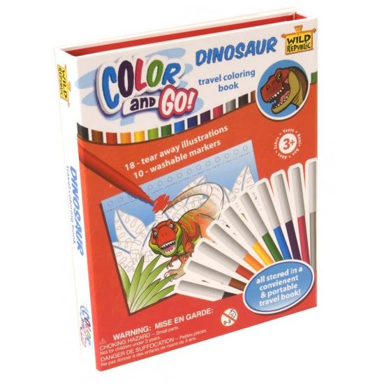 Dinosaurus kleurboek met stiften