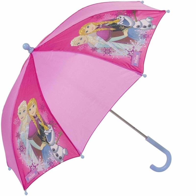 Disney Frozen paraplu roze 70 cm Disney Outdoor Vakantie