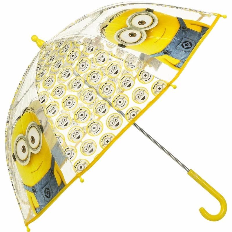 Outdoor Vakantie Disney Disney Minions paraplu transparant 70 cm