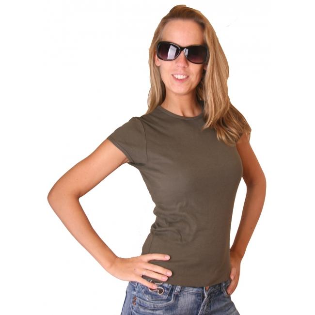 Donkergroen dames t shirt Bella Bella Beste kwaliteit