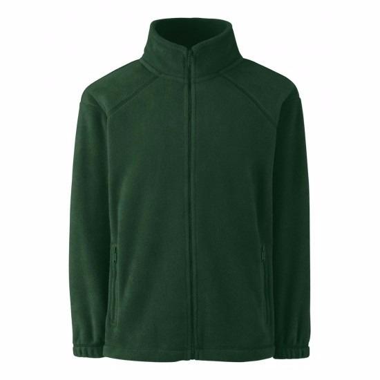 Fruit Of The Loom Donkergroen fleece vest voor meisjes Truien en sweaters