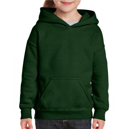 Truien en sweaters Donkergroene capuchon sweater voor meisjes
