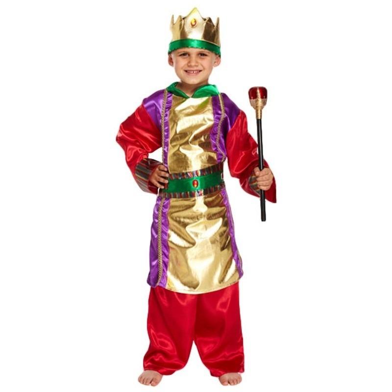 Drie koningen kerst kostuum verkleedkleding voor jongens