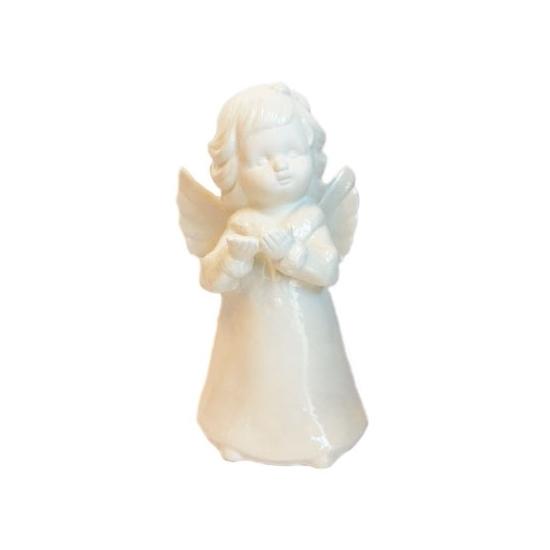 Engel beeldje porselein wit 18 cm Geen gaafste producten