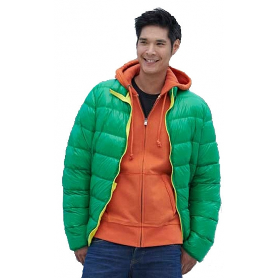 Fel groene winterjas voor heren James Nicholson Het leukste