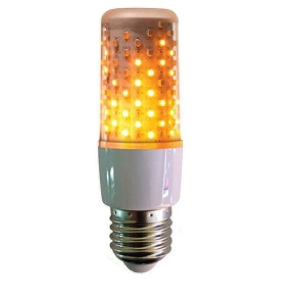 Firelamp E27 lampbolletje wit met vlam effect